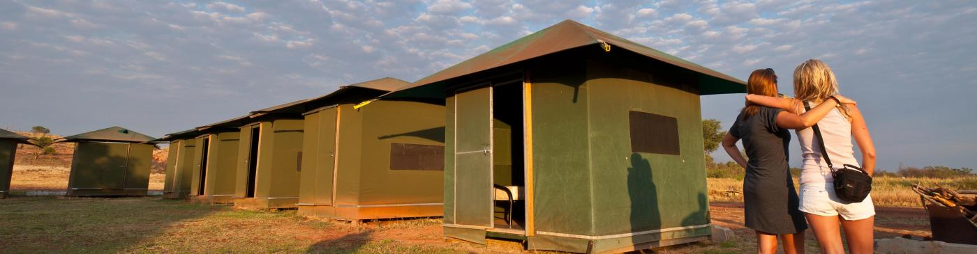 Red Centre permanent tent campsites with shared facilities